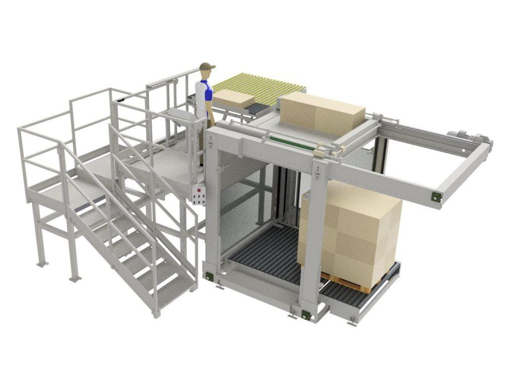 Pallettizzatore semiautomatico di cartone