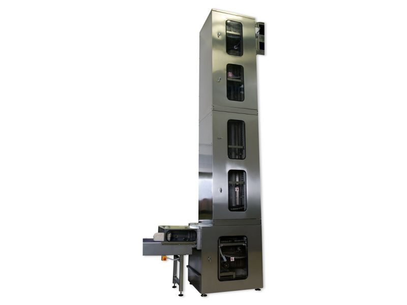 Continuous elevator for food industry