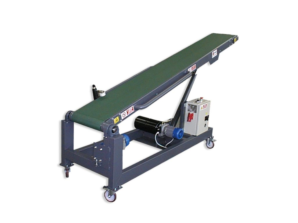 tiltable and rotatable conveyor belt